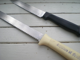 serrated knives