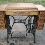Antique sewing tables